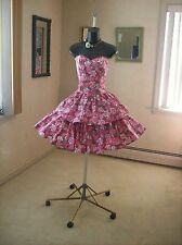 VTG 80s LAURA ASHLEY GARDEN PARTY PROM DRESS S-M BRIDESMAID