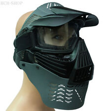 Softair Vollschutzmaske Mascarilla De Protección Máscara Paintball Gotcha
