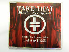 Take That - Back For Good Rare PROMO Cd Single Gary Barlow TAKE21