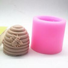 3D Creative Screw Bee Hive Handmade Candle Soap Mould Silicone Resin Mold  N