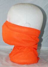 Multi use Biker Fluro Orange Cycle Neck Tube Scarf Snood Face Mask Warm Bandana