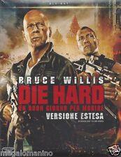 Blu-ray **DIE HARD ♦ UN BUON GIORNO PER MORIRE** con Bruce Willis slipcase 2013