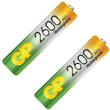 2 x GP AA 2600 Series Rechargeable Batteries mAh Ni-Mh Cordless Phone
