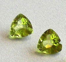 Peridot Faceted Stones Trillion Shape 6 x 6 mm      1 pc.