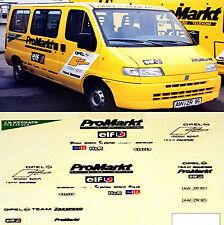 DTM Opel ProMarkt Servicemobil Fiat Ducato 1:87 Decal Abziehbild