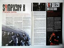 COUPURE DE PRESSE-CLIPPING :  SYMPHONY X [2pages]2007 Michal Romeo,Paradise Lost
