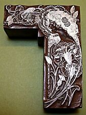 """ART NOUVEAU LADY"" PRINTING BLOCK."