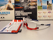 Oakley Racing Jacket Troy Lee Designs Polished White w/ Red Jaws  SKU# 9171-22
