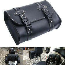 Motorcycle Saddle Luggage PU Leather Side Back Pouch Tool Bag Storage For Harley