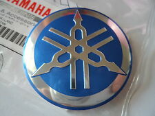 Yamaha Classic Vintage Metal Tank Emblem Badge 55mm BLUE/SILVER * GENUINE YAMAHA