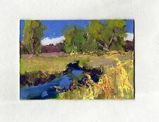 original  aceo oil painting modern impressionist landscape by Ken Burnside