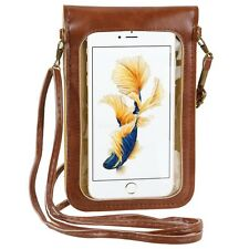 Brown Daisy Flower Cell Phone Pouch Cross-body Shoulder Bag For iPhone 6s Plus