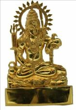 "Shankar 6"" ANTIQUE METAL SMALL STATUE CAR HOME HINDU IDOL MURTI MANDIR"