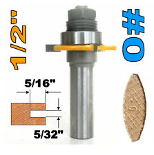 "1 pc 1/2"" SH Biscuit #0 Slotting 5/32""x5/16"" Joint Assembly Router Bit sct-888"