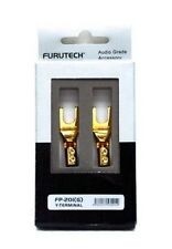 Furutech FP-201 (G) Pure copper GOLD Plated Speaker Cable Y Spade Terminal