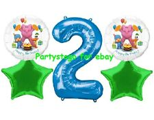 POCOYO 2ND BIRTHDAY BOY PARTY BALLOONS BOUQUET SUPPLIES DECORATIONS