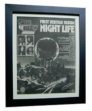 THIN LIZZY+Night Life+TOUR+RARE ORIGINAL 1974 POSTER AD+FRAMED+FAST GLOBAL SHIP