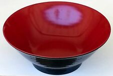 Soup Bowls 2 Set Large Red Black Melamine 8.5 Inches Japanese Ramen Pho Noodles