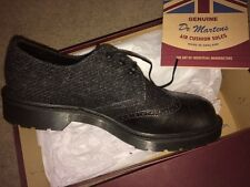 Rare new Dr Martens Dannon Harris Tweed shoes UK 7 eu 41 grey Made in England