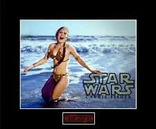 "STAR WARS 8""x10"" Photo of Slave LEIA in ROTJ Bikini - 11""x14"" Black Matted"