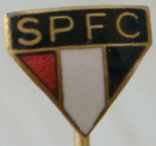 SAO PAULO FC Vintage 1960s 70s Club crest badge Stick pin Gilt 10mm x 9mm