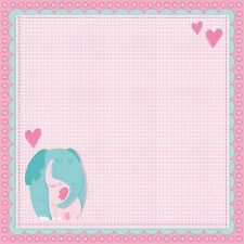 Scrapbook Paper 3D 12 x 12 inches BABY GIRL 2 Sheets   BBBE