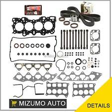 Fit Head Gasket Set Bolts Timing Belt Kit 92-00 Acura Honda B16A2 B16A3 B17A1