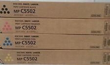 Genuine Ricoh Savin Lanier Toner Set K,M,C,Y MP C5502 MP C4502 MP C5502 MP C4502