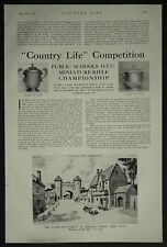 Public Schools Miniature Rifle Championship Rossall 1936 4 Page Photo Article