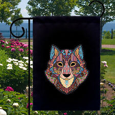 Wolf Mosaic New Small Garden Yard Flag Banner Decor Gifts Events