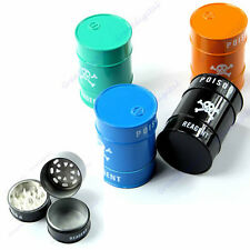 Hot Skull Pattern Oil Drum Shaped Double Layers Herb Tobacco Cigarette Grinder