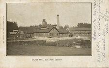 Lebanon OR * Paper Mill 1907 * Linn Co.  Lumber