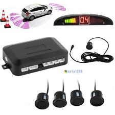 4 Parking Sensors LED Display Car Auto Backup Reverse Radar System Alarm Kit