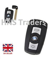 BMW 1 3 5 6 7 Series E90 E92 E93 - 3 Button Remote Flip Key Fob Case Smart Key