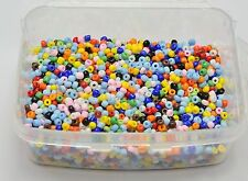 5000 Opaque Glass Seed Beads 2mm (10/0) Mixed Colour + Storage Box