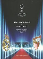 Real Madrid v Sevilla - UEFA Super Cup Final - 09 August 2016 - DAILY POSTAL RUN