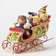 Jim Shore Peanuts Gang Sleigh Ride Dashing Through the Snow 4052722 NEW NIB