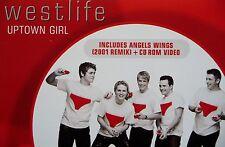 WESTLIFE - UPTOWN GIRL -ORIGINAL 2001 2 TRACK CD + ENHANCED CD ROM VIDEO - VGC