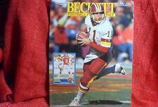 NFL Beckett Magazine Washington redskins Mark Rypien Feb 1992