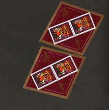 2 Canada 90 cents 1998 lunar year of tiger stamps .