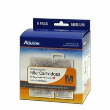 New Aqueon Replacement Cartridges Medium Md 6 Pack pk for Filter QuietFlow 10gl