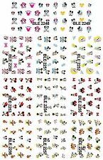 Nail Stickers 11pcs Set Mickey + Minnie Mouse Cartoons Water Decals Transfers