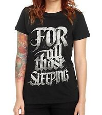 For All Those Sleeping - Woman's Juniors Medium T-Shirt Black