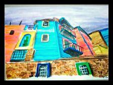 Acrilico su carta- Barrio de la Boca(2011) 12,5 x 18 cm di Antonietta Bandelloni
