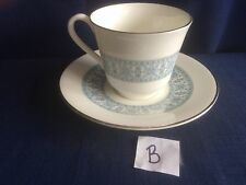 Royal Doulton Counterpoint tea cup & saucer (some gilt wear) B