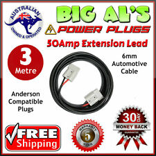 3m 50 Amp Anderson Plug Extension Lead 6mm Twin Core Automotive Cable Wire