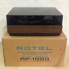Vintage ROTEL RP-1000 Turntable / Record Player - High Quality - w Original Box