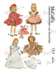 Vintage 1950's maggie and Alice 15 inch doll clothes sewing pattern