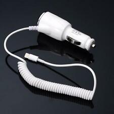 1A Power USB Auto Car Charger with Coiled Spring USB Cable For iPhone 6 6S 5 5s