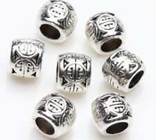 25pcs Tibetan Silver Lunck Ball Charm Spacer Bead Bracelet Jewelry Finding 6x5mm